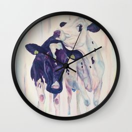 Margaret and Millie from H.Watterson Art Boring Barn Collection Wall Clock