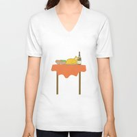 thanksgiving V-neck T-shirts featuring Thanksgiving by Suchita Isaac