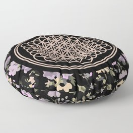 This Is Sempi-floral Floor Pillow