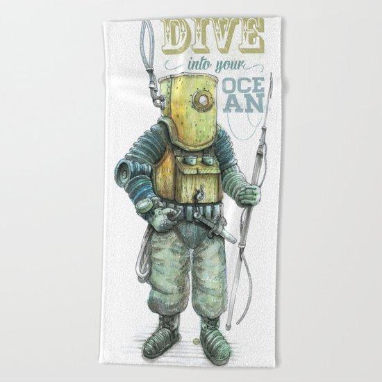 Diver Beach Towel