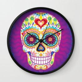 Sugar Skull Art (Luminesce) Wall Clock