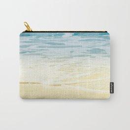 Kapalua Beach dream colours sparkling golden sand seafoam Maui Hawaii Carry-All Pouch
