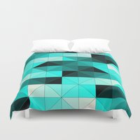 teal Duvet Covers featuring Teal by Hannah