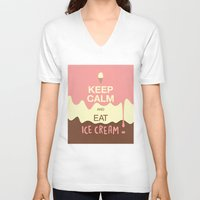 keep calm V-neck T-shirts featuring Keep Calm  by Graphic Tabby
