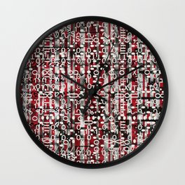 Linear Thinking Trip Switch (P/D3 Glitch Collage Studies) Wall Clock