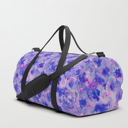 Hand painted navy blue pink watercolor floral pattern Duffle Bag