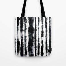 Tie-Dye Shibori Stripe BW Tote Bag