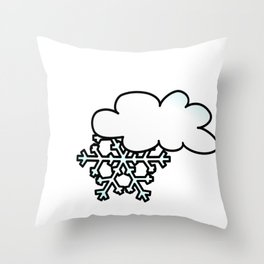 Winter I Smell Snow Love Snow Days Throw Pillow