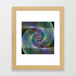 Fractal spiral Framed Art Print