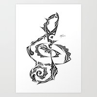Treble Clef Art Print