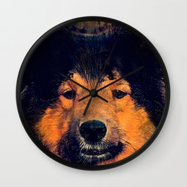 dog barry Wall Clock