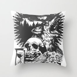 The Cycle Of Death Throw Pillow