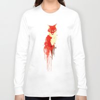 spirit Long Sleeve T-shirts featuring The fox, the forest spirit by Picomodi