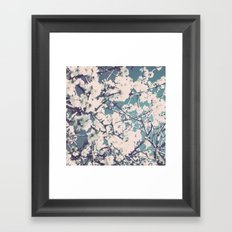 spring mediterranean almond flowers Framed Art Print