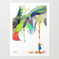 archan nair Art Prints featuring Azalia by Archan Nair