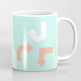 Turquoise & Coral (3) Coffee Mug