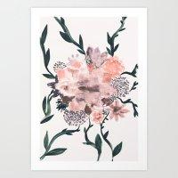 kpop Art Prints featuring Summer Flowers by Georgiana Paraschiv