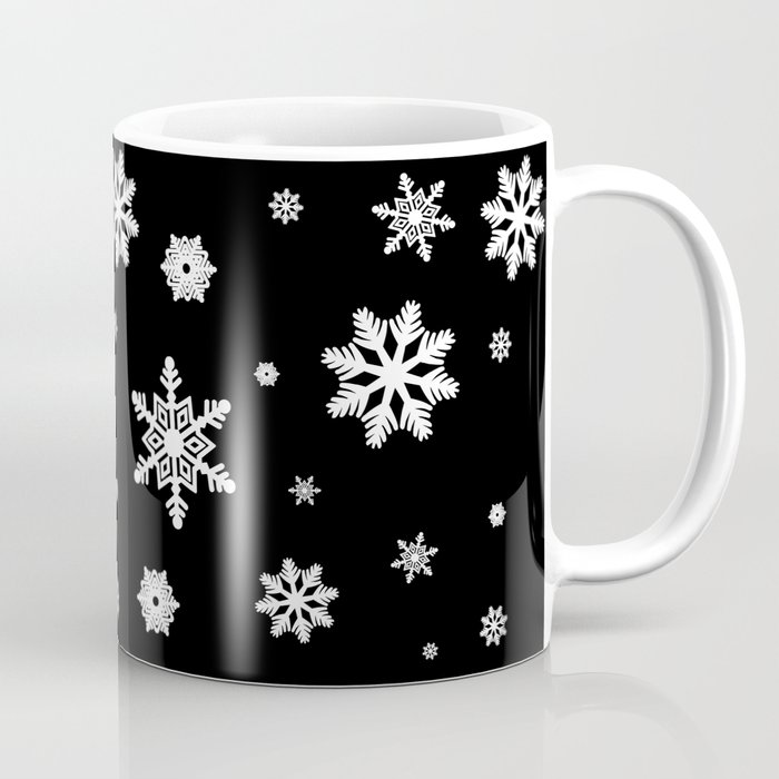 Snowflakes   Black & White Coffee Mug