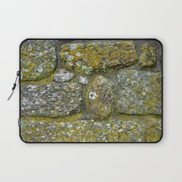 Old granite wall with grey and green colors Laptop Sleeve