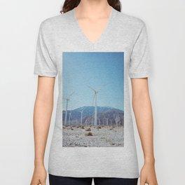 Palm Springs Windmills IV Unisex V-Neck