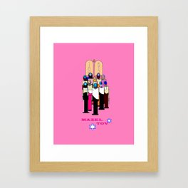 A Bat Mitzvah Design with a  Pink Background Framed Art Print
