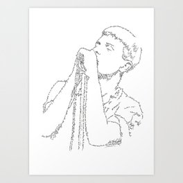 Ian Curtis WordsPortrait Art Print