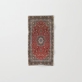 N63 - Red Heritage Oriental Traditional Moroccan Style Artwork Hand & Bath Towel
