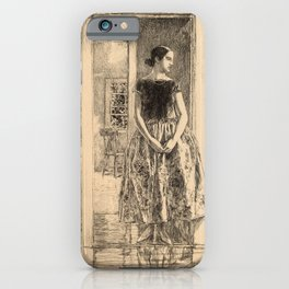 Childe Hassam - Girl in a Modern Gown iPhone Case