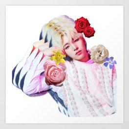 ONEUS SEOHO WITH FLOWER Art Print