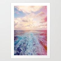 Sea Tracks Art Print