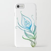 peacock feather iPhone & iPod Cases featuring Peacock Feather by Jozi