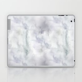Abstract modern gray lavender watercolor pattern Laptop & iPad Skin