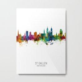 St Gallen Switzerland Skyline Metal Print