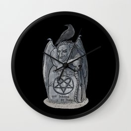 The tomb of your hopes Wall Clock
