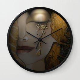 My Klimt Serie : Gold Wall Clock