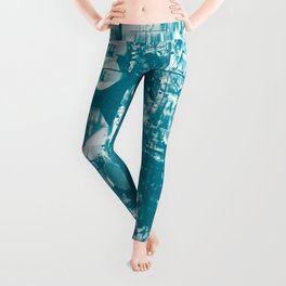 Paragon City Is Calling [Now In Duotone - Teal] Leggings