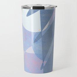Minimal pebbles balance 1 blue and pink Travel Mug