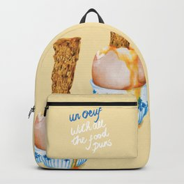 Un Oeuf With All The Food Puns Backpack
