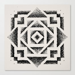 Dotwork Canvas Print