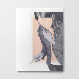 GIRL IN ORDER Metal Print