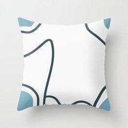 Shark Wave Throw Pillow