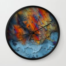 Diagonal Rainbow Redux Wall Clock