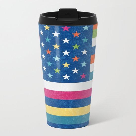 American flag trendy colors 2017 Metal Travel Mug