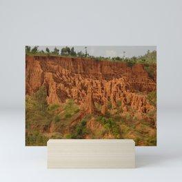 New York Sandstone Cliffs  Landscape Konso Ethiopia Africa 2 Mini Art Print