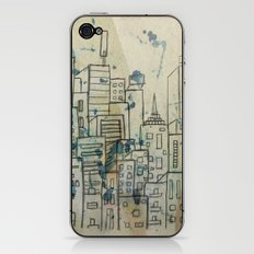 Sketch of buildings in a city that doesn't exist iPhone & iPod Skin