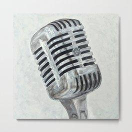 Vintage Microphone Metal Print