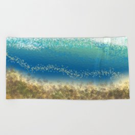 Abstract Seascape 04 wc Beach Towel