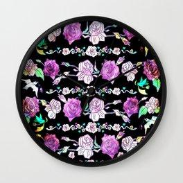 Grandma's Vintage Roses Wall Clock