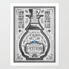 Legend of Zelda Blue Chu Potion Advertisement Art Print