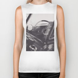 Super car details, british triumph spitfire, black & white, high quality fine art print, classic car Biker Tank